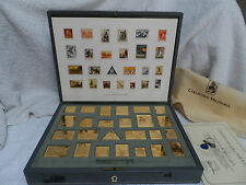 MILITARY COLLECTION POSTAGE STAMP Ingots Pure .925 Silver 24k Gold plated RARE