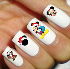 Nail Decal Disney Mickey Mouse Christmas Handmade Waterslide Transfer Peel Apply