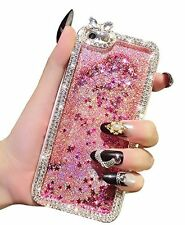 Luxury 3D Bling Flowing Liquid Diamond Glitter Design Star Case For iPhone 5s 6+