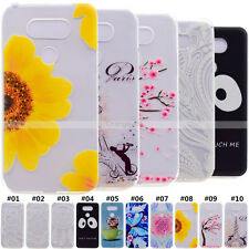 Retro Pattern Rubber Soft TPU Silicone Gel Back Case Cover Skin For Huawei LG
