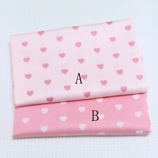 50cm*160CM Lovely pink heart 100%cotton fabric Quilting  Clothes Bedding Sewing