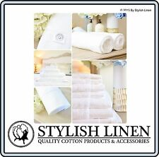 Egyptian Cotton Bath Towels Hand Face Bath Mat Pieces Set Sets New 650GSM White