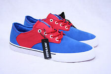 MENS SUPRA PISTOL SKATE SHOES BLUE RED WHITE VULC SOLE 8 8.5 9.5 11 11.5 NEW