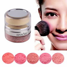 Women Natural 3D Pure Mineral Cheek Blush Blusher Powder Cosmetic With Sponge G