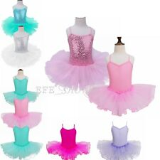 Girls Kids Ballet Leotard Tutu Dress Toddler Skating Dancewear Party Dance Wear