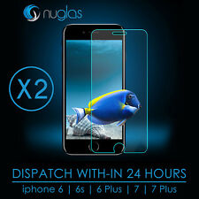 2x GENUINE NUGLAS 9H Tempered Glass Screen Protector Apple iPhone 6, iphone 6s