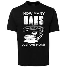 New Black One More Car T Shirt 100% Cotton Size S -5XL +7XL