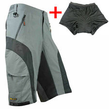 SANTIC Men's Cycling Mountain Bike Bicycle Shorts Pants (+ 3D Padded Underwear)