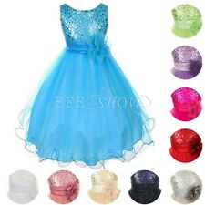 Sequin Girls Dress Flower Girl Dress Bridesmaid Birthday Party Dress Size 2 to14
