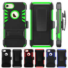 Rugged Rubber Hard Full Cover Hybrid Shockproof Case for iPhone 6/6s/7 Plus Skin