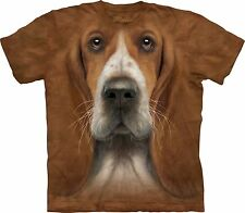 Basset Hound Head Dogs T Shirt Adult Unisex The Mountain
