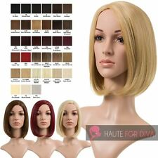 NEW LADIES FULL HEAD WIG JENNY STRAIGHT BOB SYNTHETIC HIGH QUALITY SIDE PARTING