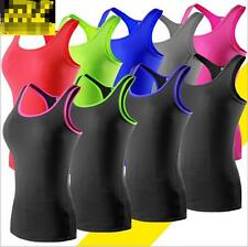 Womens Compression Base Layer Sports Under Wear Sleeveless Vest Tank Top Shirts