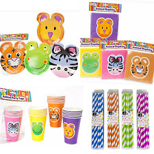 Kids Birthday Party Plates Animal Theme Cups Childrens Birthday Party Jungle Set