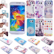 Case Silicone Skin Cover For Samsung Galaxy Glossy Pattern Painted TPU Soft New