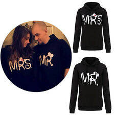 Fashion Couple Lovers Matching MR MRS  Hoodie Sweatshirt Hooded Tops Pullover