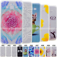 Gel TPU Silicone Pattern Soft Slim Patterns Clear Case Cover For Samsung Galaxy