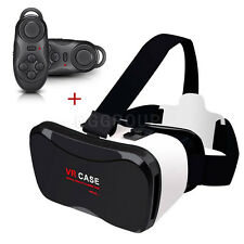 VR Virtual Reality 3D Glasses Headset + Controller For Android & iOS Smartphones