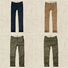 New Hollister Mens Slim Straight Button Fly Chinos Pants 29x30, 33x32, 32x34