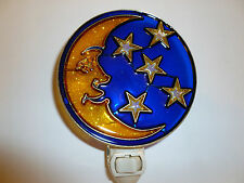 """Stain Glass Style - """"MOON AND STARS """"  NIGHT LIGHT"""