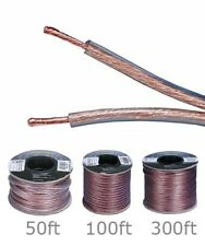 50ft 100ft 300ft Speaker Wire Cable Cord Enhanced Loud Oxygen Free Copper 16AWG