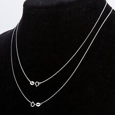 """925 Sterling Silver Stamp 925 SNAKE 1mm Chain Necklace 16"""" 18"""" 20"""" 22"""" 24"""" 30"""""""