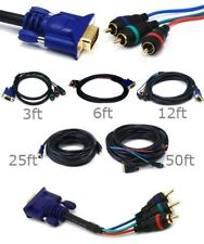 3ft 12ft 25ft 50ft VGA DB15 to 3-RCA RGB YPbPr TV Component Video Adapter Cable