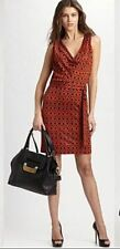 $495 Diane von Furstenberg Keesa Silk Jersey Sleeveless Dress NWT 4/10 GORGEOUS!