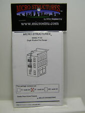N Scale SINGLE WINDOW FIRE ESCAPE PHOTO-ETCHED BRASS KIT Micro Structures MIB