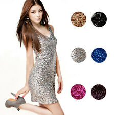 Sexy Sequins Mini Bodycon Sheath Cocktail Clubwear Party Evening Dress Optimal