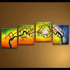 original unique colorful huge blossom tree oil painting abstract floral wall art