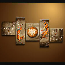 Handmade 5 Pieces Modern Abstract Painting Wall Art Figure Gallery Wrapped