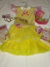 DISNEY BEAUTY AND THE BEAST BELLE YELLOW GIRLS COSTUME TUTU DRESS TIARA 4-6