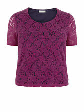 Windsmoor Women's Pink Floral Lace Top Short