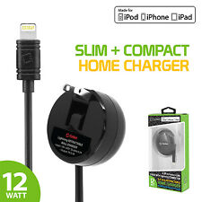 MFI Apple CERTIFIED 2.4A 12W Lightning 8 Pin Retractable High Power Home Charger