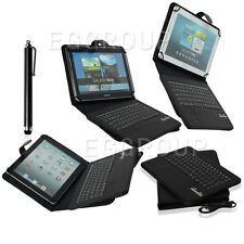 """Vogue For All 9"""" 9.7"""" 10.1"""" Tablet Detachable Bluetooth Keyboard PU Leather Case"""