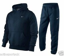 Nike Junior Boys Navy Fleece Hooded Sports Jogging Tracksuit Top & Bottom