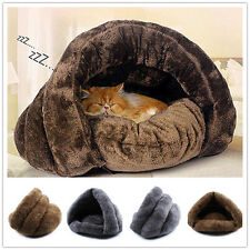 Super Soft Cat Dog House Puppy Cave Pet Sleeping Bed Mat Pad Igloo Nest