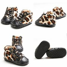 Toddler Infant Baby Boy Girl Warm Prewalkers Leopard Sneakers Crib First Shoes