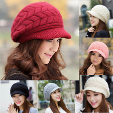 New Women Ladies Beret Winter Warm Baggy Beanie Knit Crochet Hat Slouch Ski Cap