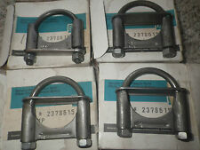 """4      1 3/4""""   exhaust clamps GM NOS"""