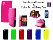 Leather Pu Wallet Soft Tpu Gel Stand Case Cover Card Holder For HTC Desire 825