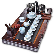 Tea service Collection tea set ebony tea tray with induction cooker tea pot cup