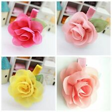 4pcs/lot Colorful Flowers Hair Accessories Kids Girls Baby Hair Clips Hair rope