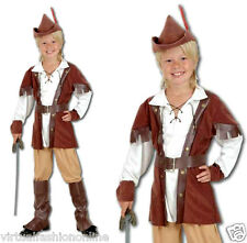 Boys Robin Hood Hunter Deluxe Fancy Dress Costume Book Week Childs Outfit Kids
