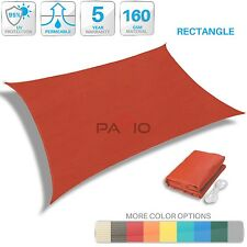 UV Block Sun Shade Sail Outdoor Canopy Patio Lawn PoolDeck Yard Square Rectangle