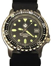 WATCH DESIGN - Black Star - Men's Ladies watch, Diver's watch
