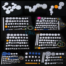 Plastic Gears Kits Pulley Shaft Worm Bevel Gear Sleeve for DIY Toy Robot HighQ