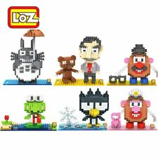6 Sets Mr. Bean Potato Head Badtz-Maru LOZ Diamond Nano Blocks Lot Building Toy