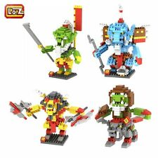 4 Sets Warcraft Super Heroes Cairne Grom DrekThar Rokhan WOW Nano Blocks Toy